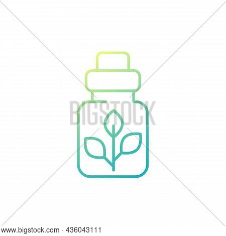 Homeopathic Medicine Line Icon On White, Vector