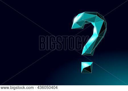3d Ask Question Mark. Make Decision Problem Solution. Psychologist Coach Session Medicine Banner Vec