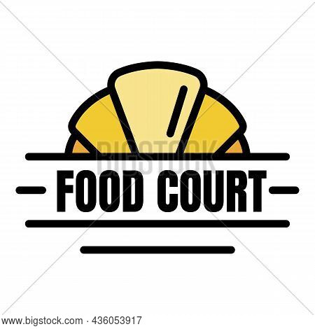 Fresh Food Court Logo. Outline Fresh Food Court Vector Logo Color Flat Isolated