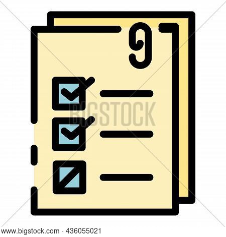 List Of Personal Property Icon. Outline List Of Personal Property Vector Icon Color Flat Isolated