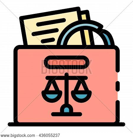Judicial Evidence Icon. Outline Judicial Evidence Vector Icon Color Flat Isolated