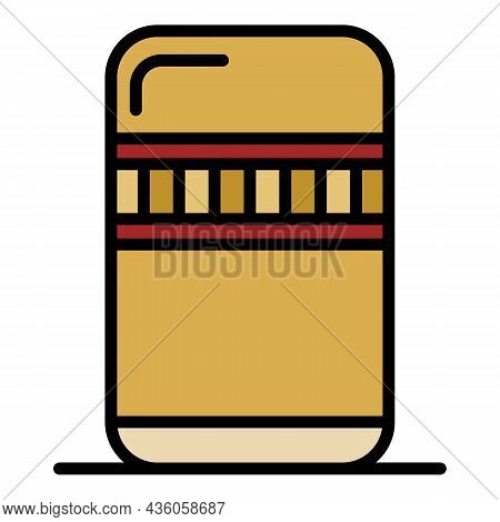 Large Thermos Icon. Outline Large Thermos Vector Icon Color Flat Isolated