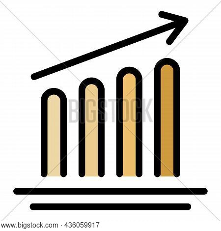 Impression Increase Icon. Outline Impression Increase Vector Icon Color Flat Isolated