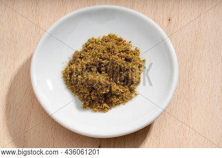 Detailed And Large Close Up Shot Of Cumin On A Small Plate