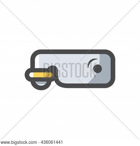 Door Latch Simple Vector Icon Cartoon Illustration