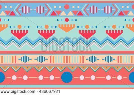 Pastel tribal background, textile design
