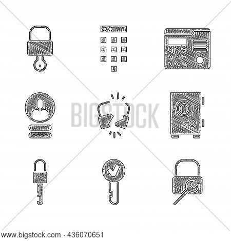 Set Broken Or Cracked Lock, Key, Lock Repair, Safe, Locked Key, Create Account Screen, House Interco