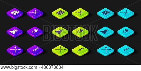 Set Crossed Medieval Spears, Torch Flame, Monk, Medieval Flag, Sword And Wooden Barrel Icon. Vector