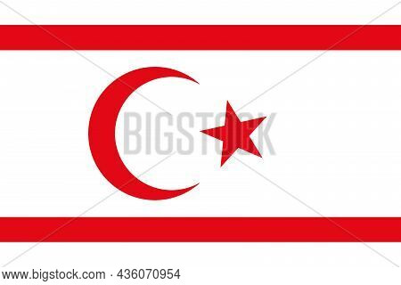 The Republic Flag Of Northern Cyprus Flag Is The Republic Of Cyprus At The Northern Part Of Cyprus I