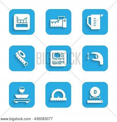 Set Area Measurement, Protractor, Diameter, Approximate Measurements, Scales, Measuring Tape, Cup An
