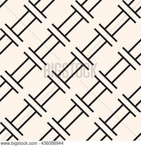 Vector Geometric Seamless Pattern. Trendy Texture With Simple Shapes. Geometry Abstract Graphic Desi