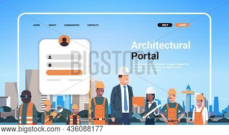 Architectural Portal Website Landing Page Template Builders Architectors And Engineers Team In Helme