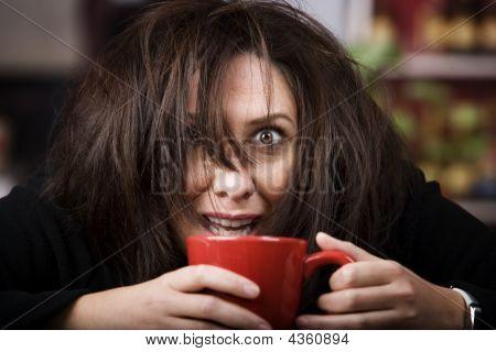 Coffee-crazed Woman