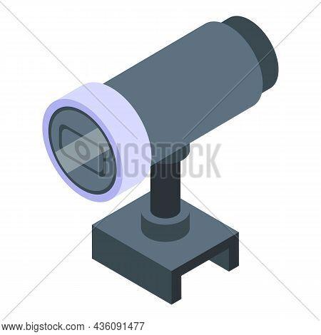 Web Camera Icon Isometric Vector. Video Cam. Webcam Lens