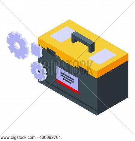 Repair Tool Box Icon Isometric Vector. Laptop Service. Fix Mobile