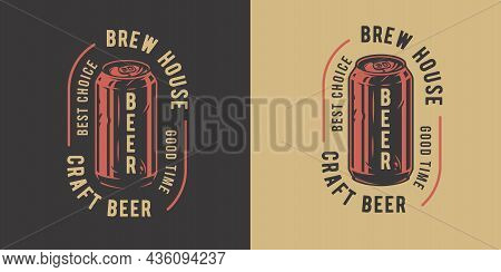 Beer Can For Bar. Original Brew Design With Craft Beer Can For Pab Or Brewery