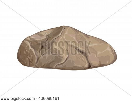 Natural Stone On A White Background As An Element Of Nature For Illustration.vector Illustration.