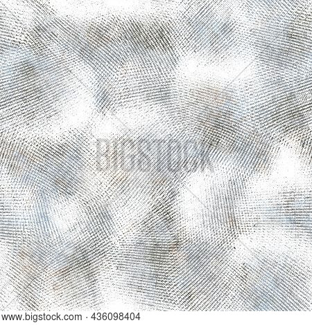 Seamless Neutral And White Grungy Classic Abstract Surface Pattern Design For Print.