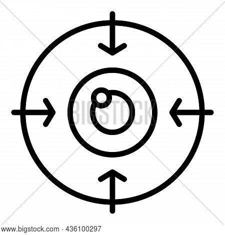 Eye Target Icon Outline Vector. Perception Visual. Sensory Process