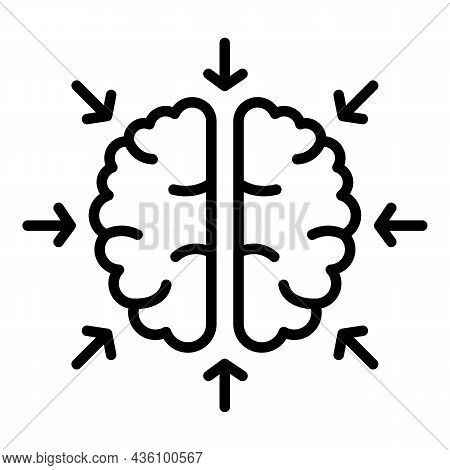 Cognitive Brain Icon Outline Vector. Visual Sensory. Health Information