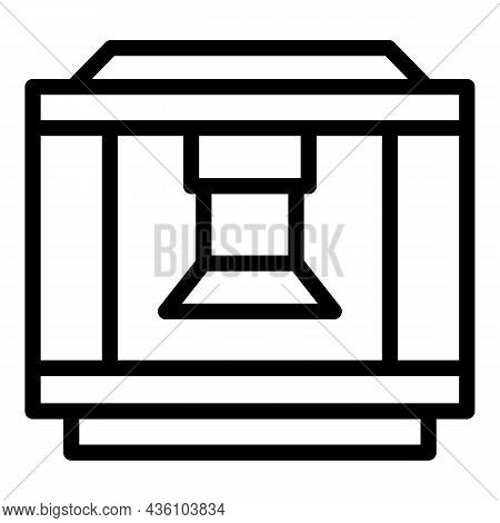 Lathe Machine Icon Outline Vector. Cnc Equipment. Work Tool