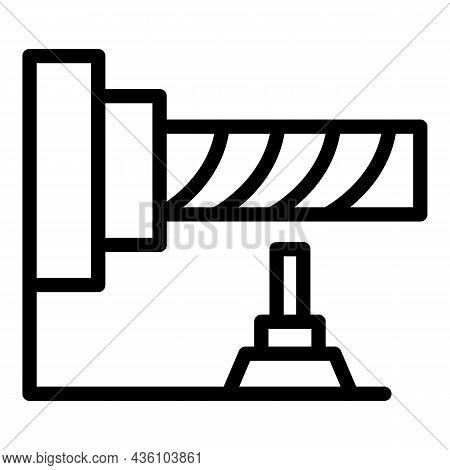Cnc Machine Tool Icon Outline Vector. Lathe Equipment. Industry Work