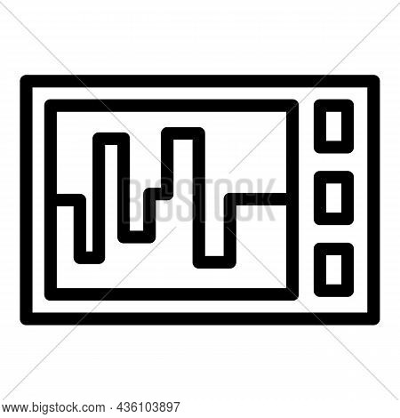 Steel Cnc Machine Icon Outline Vector. Lathe Equipment. Laser Industry