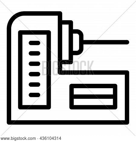Technology Cnc Machine Icon Outline Vector. Work Equipment. Industry Tool