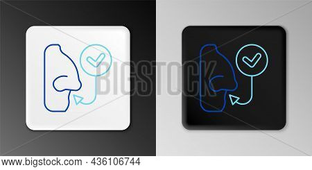 Line Healthy Breathing Icon Isolated On Grey Background. Breathing Nose. Colorful Outline Concept. V