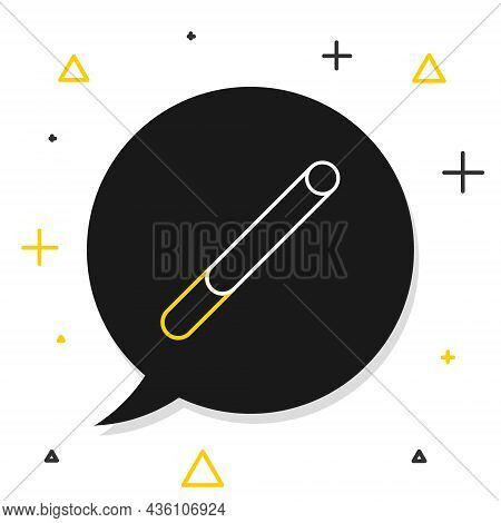 Line Cigarette Icon Isolated On White Background. Tobacco Sign. Smoking Symbol. Colorful Outline Con