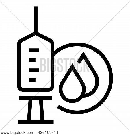 Drop Syringe Ampule Icon Outline Vector. Vial Vaccine. Bottle Injection