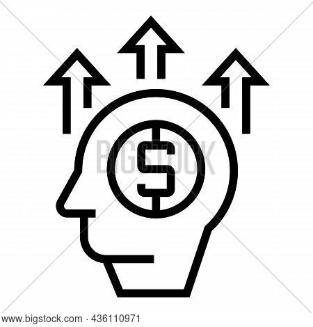 Business Speaker Icon Outline Vector. Seminar Person. Conference Lecture