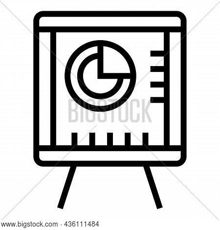 Business Banner Icon Outline Vector. Speaker Seminar. Speech Training