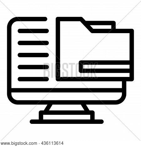 Computer Folder Icon Outline Vector. Cms Development. Web Design