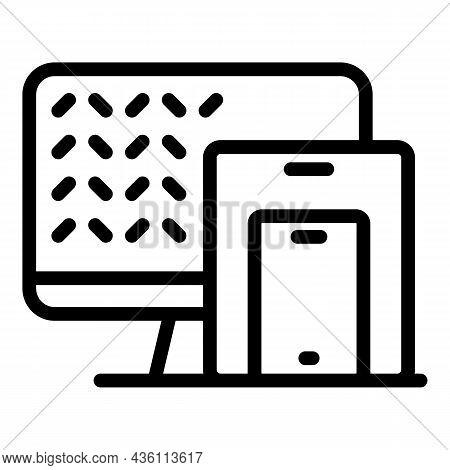 Computer Code Icon Outline Vector. Web Cms. Website Html