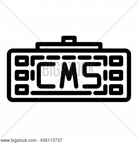 Cms Keyboard Icon Outline Vector. Web Design. Graphic Code
