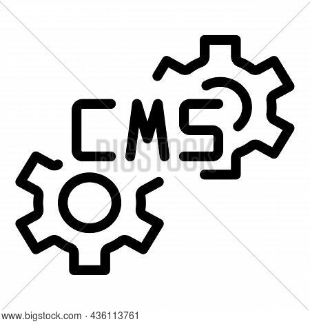 Cms System Icon Outline Vector. Html Design. Page Pc
