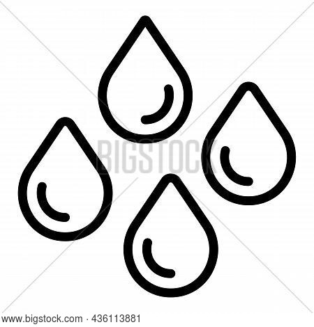 Rain Drops Icon Outline Vector. Water Drop. Raindrop Shape