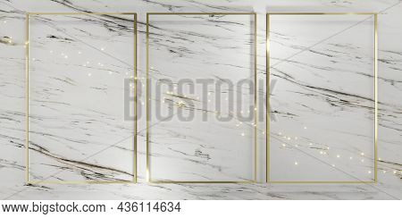 Glitter Luxury Frame Background For Pasting Text And Content 3d Illustrations