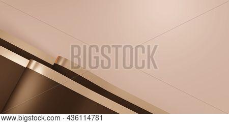 Shiny Ribbon Background Flutter For Decoration 3d Illustration