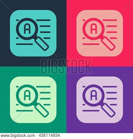 Pop Art Translator Icon Isolated On Color Background. Foreign Language Conversation Icons In Chat Sp
