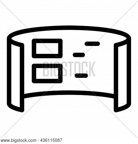 Wide Minimal Control Icon Outline Vector. Vr Tour. Panoramic Design
