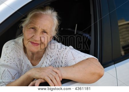 Old Woman In The Car
