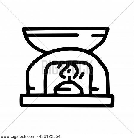 Oil Burner Line Vector Doodle Simple Icon