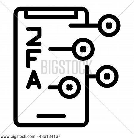 2fa Smartphone Icon Outline Vector. Code Login. Multi Password
