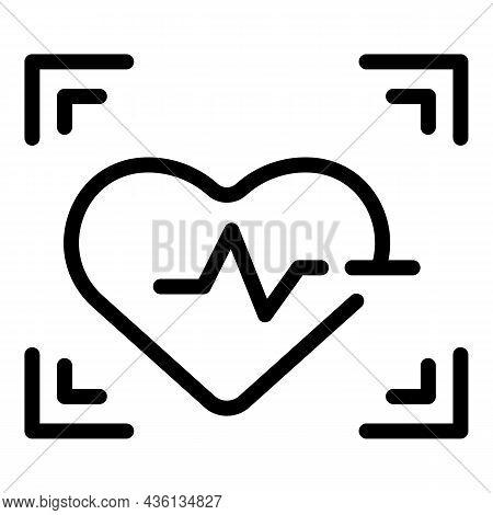 Heart Rate Icon Outline Vector. Beat Pulse. Cardiac Life