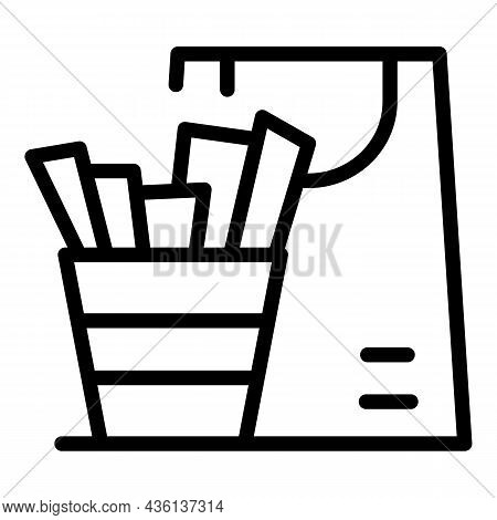 Fast Food Delivery Icon Outline Vector. Online Order. Meal Pickup