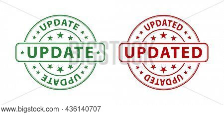 update stamp icon isolated on white background