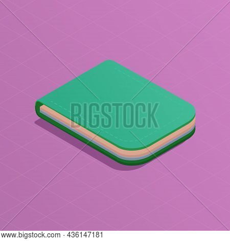 Online Wallet Isometric Concept. Payment Cards In The Green Purse Icon. Money. Online Payment And Ba