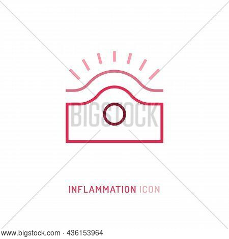 Inflammation, Pain, Angriness Sign. Editable Vector Illustration